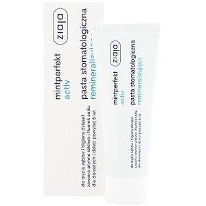 ZIAJA Mintperfekt activ pasta stomatologiczna do zębów remineralizująca z fluorem 75ml