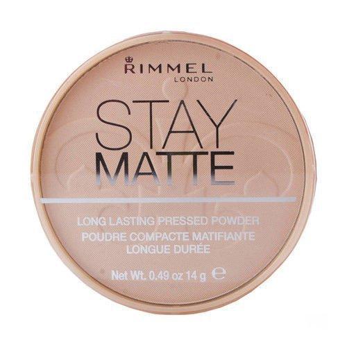 RIMMEL LONDON Stay Matte Long Lasting Pressed Powder puder prasowany dla kobiet 14g (004 Sandstorm)