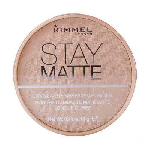 RIMMEL LONDON Stay Matte Long Lasting Pressed Powder puder prasowany dla kobiet 14g (005 Silky Beige)