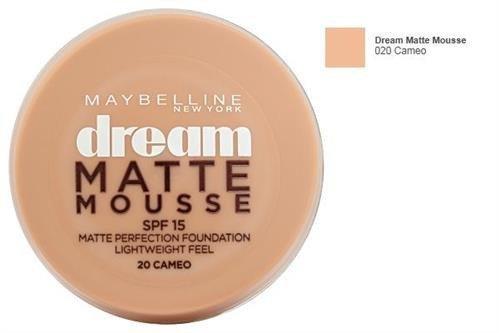 MAYBELLINE Dream Matte Mousse SPF15 aksamitny podkład matujący dla kobiet 18ml (20 Cameo)