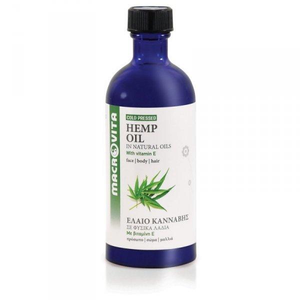 MACROVITA OLEJ KONOPNY w naturalnych olejach tłoczony na zimno z witaminą E 100ml