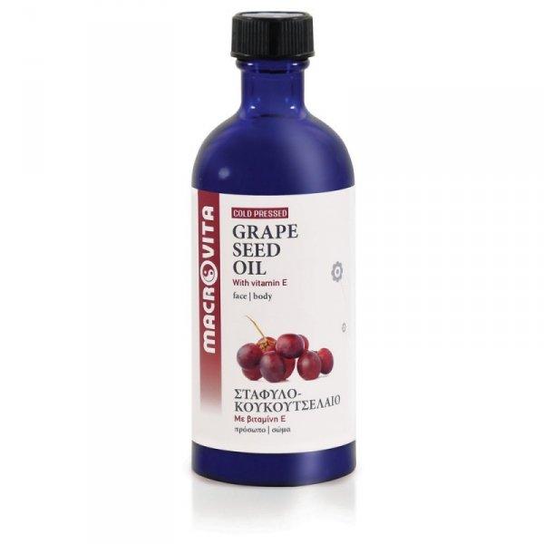 MACROVITA OLEJ Z PESTEK WINOGRON w naturalnych olejach tłoczony na zimno z witaminą E 100ml