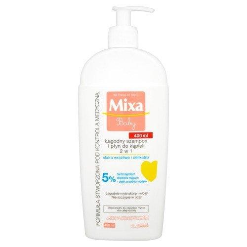 MIXA Baby łagodny szampon i płyn do kąpieli dla dzieci 400ml