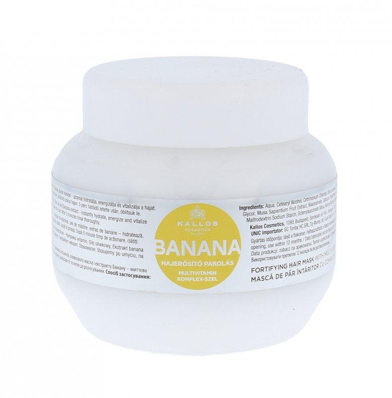 Kallos Cosmetics Banana (Maska do włosów, W, 275ml)