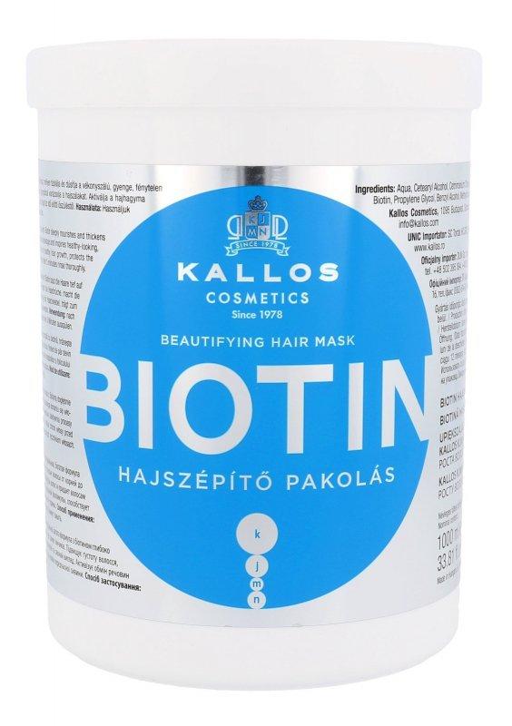 Kallos Cosmetics Biotin (Maska do włosów, W, 1000ml)