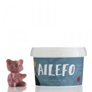 Ailefo, Organiczna Ciastolina, duże opakowanie, róż, 540g