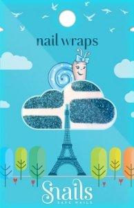 Naklejki na paznokcie, Nail Wrap – Turquoise, Turkusowe