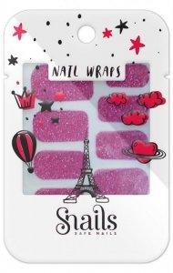 Snails, Naklejki na paznokcie, Nail Wrap – Red Carpet, fuksjowe