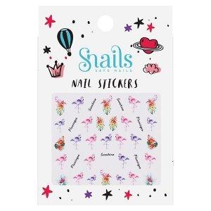 Snails, Naklejki na Paznokcie Flamingos