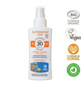 Alphanova Sun, Spray z filtrem SPF30, wersja podróżna, 90g