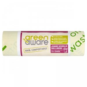 GreenAware, Kompostowalne worki na odpady spożywcze, 240L, 3szt.