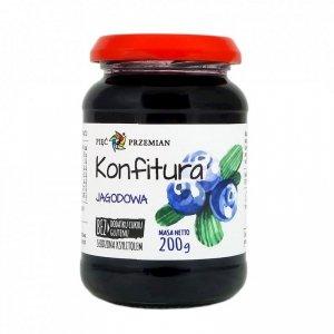 PIĘĆ PRZEMIAN Konfitura jagodowa słodzona ksylitolem 200g