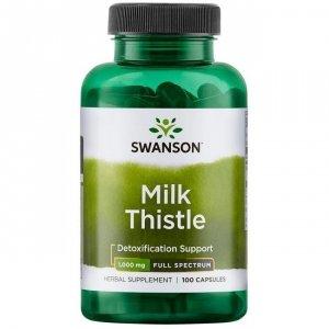 SWANSON Milk Thistle 500mg, 100kaps. - Ostropest plamisty
