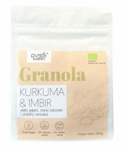 GRANOLA KURKUMA - IMBIR BIO 200 g - PURE & SWEET