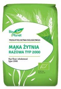 MĄKA ŻYTNIA RAZOWA TYP 2000 BIO 1 kg - BIO PLANET