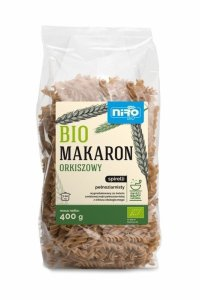 MAKARON (ORKISZOWY RAZOWY) SPIRELLI BIO 400 g - NIRO