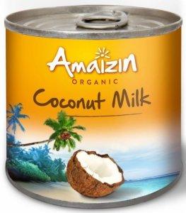COCONUT MILK - NAPÓJ KOKOSOWY W PUSZCE (17% TŁUSZCZU) BIO 200 ml - AMAIZIN