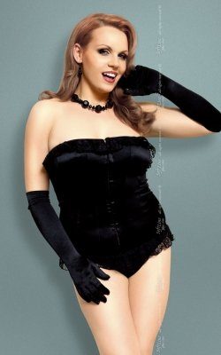 xIria - Plus Size - black 1740 gorset i stringi