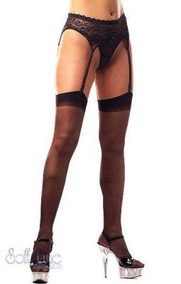 Stockings 0005 - black pończochy do paska