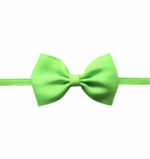 1 kIDS WowSorie opaska na gumce z kokardą zielony fluo