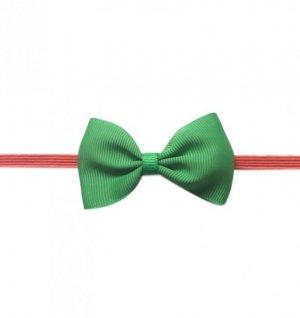 1 kIDS WowSorie opaska na gumce z kokardą zielony-czerwony