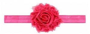 1 kIDS opaska na głowę kwiat ciemny róż