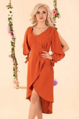 1 Mallani Brick Red D51 sukienka PROMO