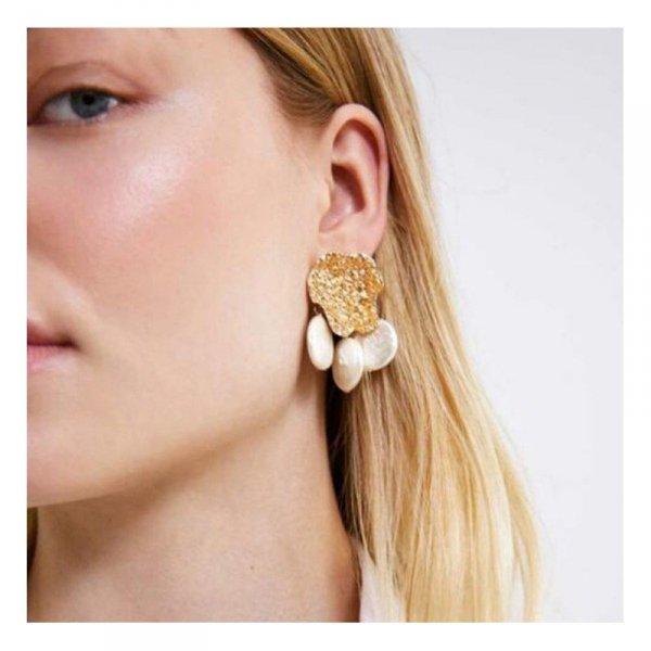 Kolczyki przy uchu perły K1161