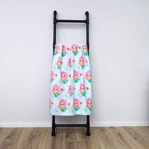Ręcznik plażowy prostokątny mały 150x70 Syrenki REC47WZ2