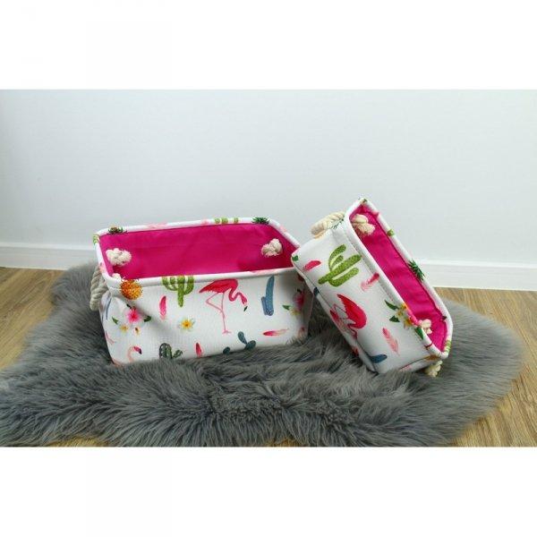 Pojemnik na zabawki, organizer do przechowywania flamingo OR48WZ1