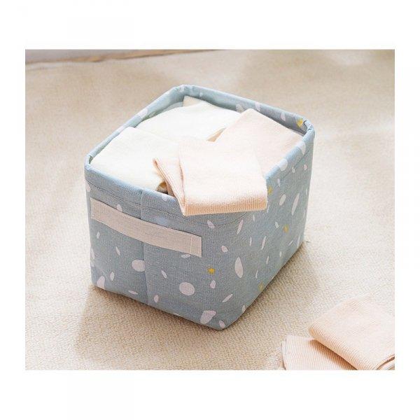 Pojemnik na zabawki kosz, worek na pranie niebieski OR52NZO