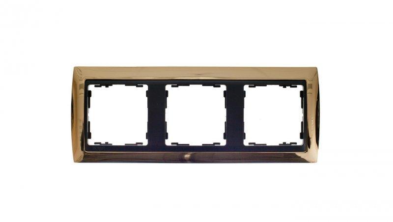 Simon 82 Ramka potrójna uniwersalna Metal Lity złota/ ramka pośrednia grafit 82834-66