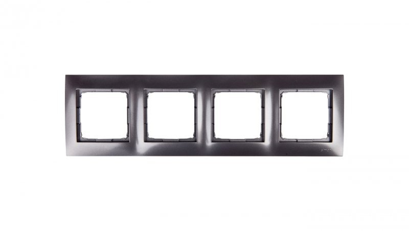 Simon 54 Premium Ramka poczwórna antracyt /do karton-gips/ DRK4/48