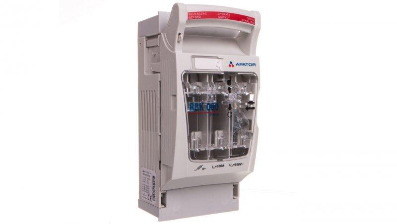 Rozłącznik izolacyjny bezpiecznikowy 100A RBK 000-W-M pro /zaciski śrubowe M8 do 70mm2/ 63-823191-081