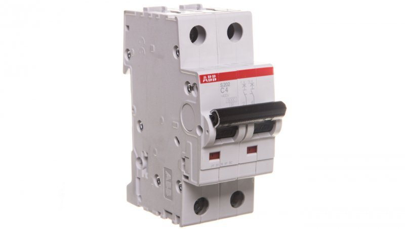 Wyłącznik nadprądowy 2P C 4A 6kA AC S202-C4 2CDS252001R0044