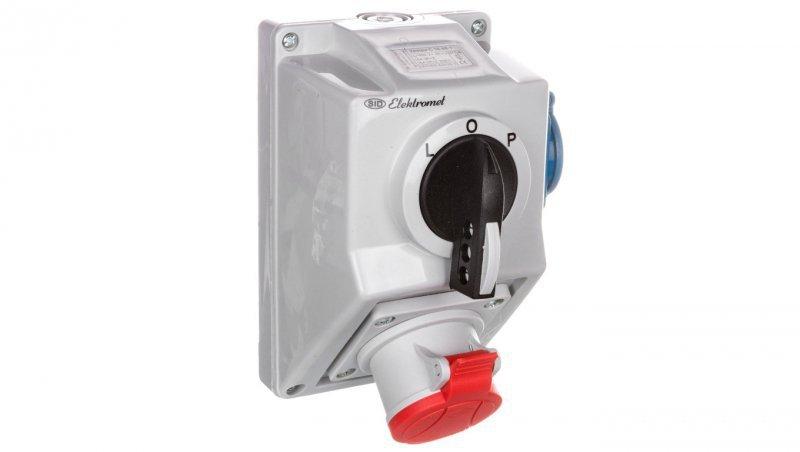 Zestaw instalacyjny z gniazdem 4P 1x 2P+Z L-0-P 16A IP54 C16-48.1 971613