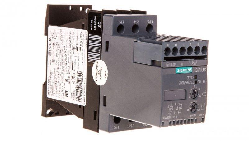 Softstart 3-fazowy 200-480VAC 12,5A 5,5kW/400V Uc=110-230V AC/DC S00 3RW3017-1BB14