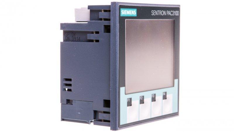 Miernik parametrów sieci PAC3100 pomiar pośredni x/5A zasilanie DC 110-250V / AC 100-240V MODBUS RTU 7KM3133-0BA00-3AA0
