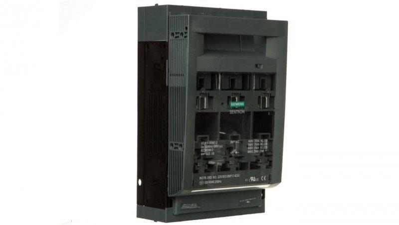 Rozłącznik bezpiecznikowy 3P 250A NH1 do montażu na szynach 60mm 3NP1143-1BC10