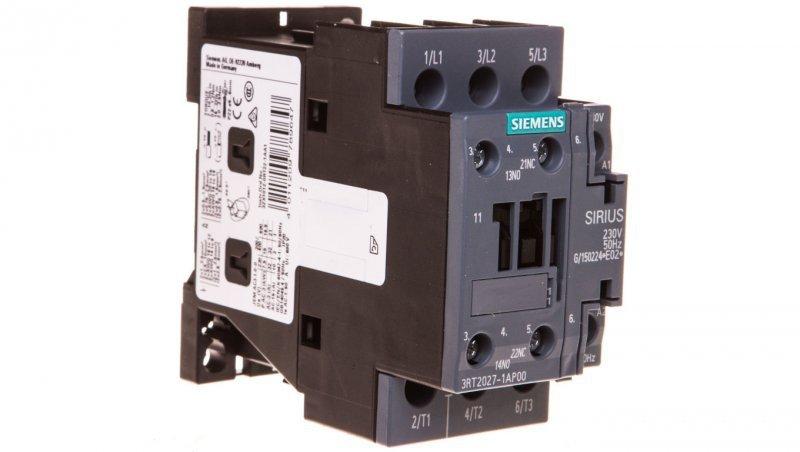 Stycznik mocy 32A 3P 230V AC 1Z 1R S0 3RT2027-1AP00