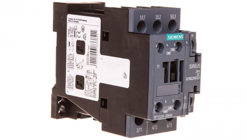 Stycznik mocy 38A 3P 24V DC 1Z 1R S0 3RT2028-1BB40