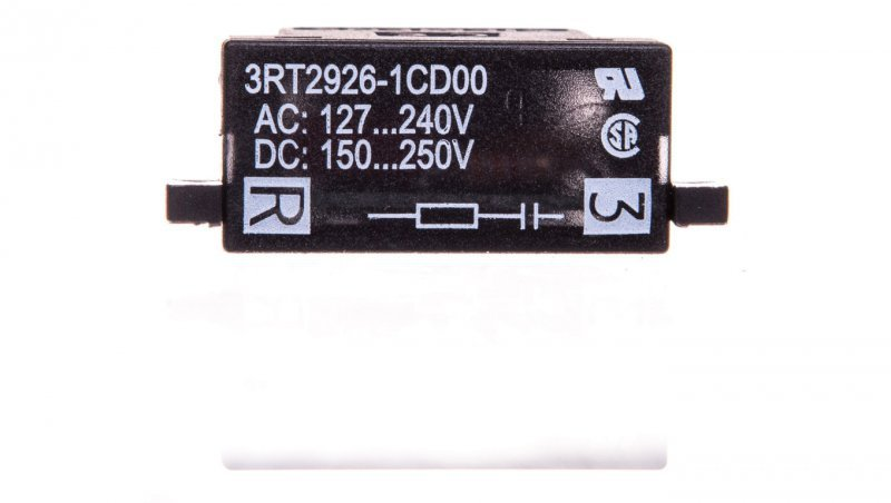 Układ tłumiący RC 127-240V AC 150-250V DC ze wkaźnikiem LED S0 3RT2926-1CD00