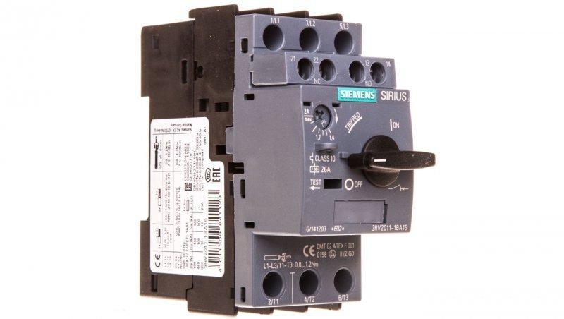 Wyłącznik silnikowy 3P 1,4-2A 1Z 1R S00 3RV2011-1BA15