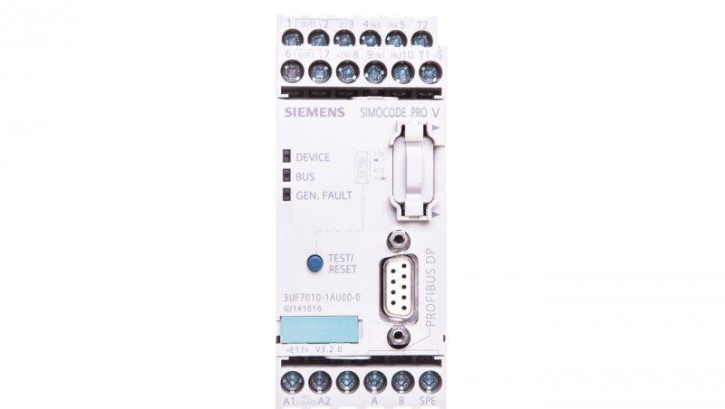 Elektroniczny moduł zabezpieczający silnik 4we/3wy 110-240V AC/DC PROFIBUS RS485 rozszerzeniowy 3UF7010-1AU00-0