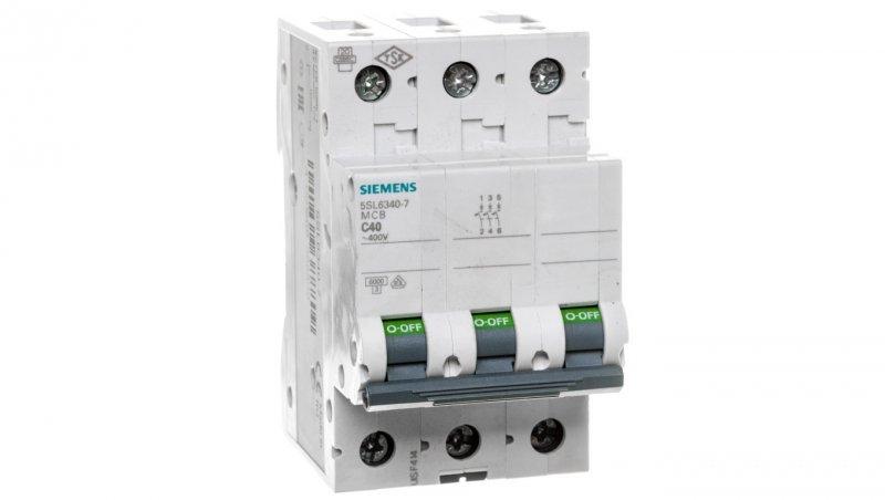 Wyłącznik nadprądowy 3P C 40A 6kA 5SL6340-7