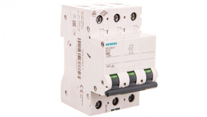 Wyłącznik nadprądowy 3P C 63A 6kA AC 5SL6363-7