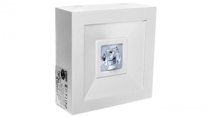 Oprawa awaryjna LED 1W 3h LOVATO N ECO LED 1W (opt. koryt.) jednozadaniowa biała LVNC/1W/E/3/SE/X/WH