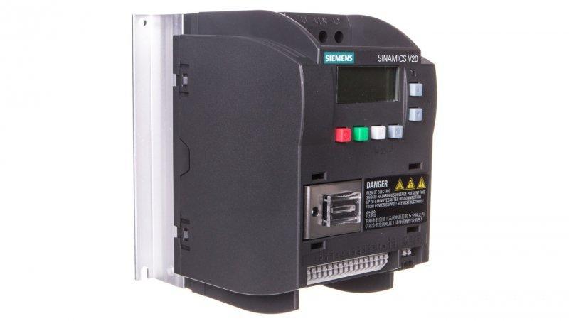 Falownik Uwe=400V, Uwy=3x400V/1,7A 0,55kW Sinamics V20 6SL3210-5BE15-5UV0