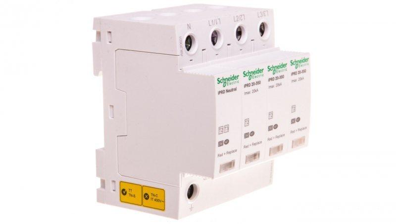 Ogranicznik przepięć C Typ 2 3P 20kA ze stykiem pomocniczym iPRD-20r-20kA-350V-3PN A9L20601