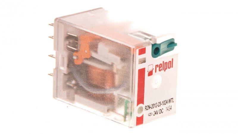 Przekaźnik przemysłowy 2P 24V DC AgNi R2N-2012-23-1024-WTL